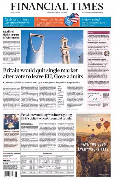 Financial Times UK  May 09 2016
