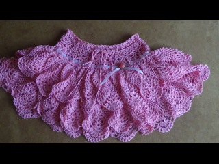 Юбочка крючком для девочки. Часть 1. Skirt crochet for girl