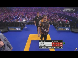 Adrian Lewis vs Mensur Suljović (PDC World Darts Championship 2016 / Round 3)