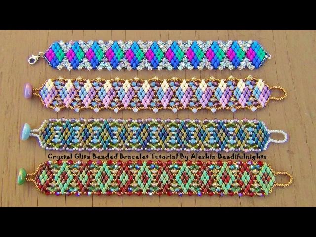 Crystal Glitz Beaded Bracelet Tutorial