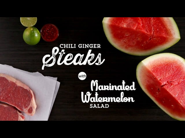 Publix Aprons Cooking School Chili Ginger Steaks with Marinated Watermelon Salad