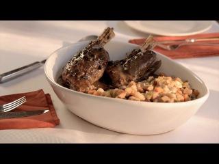 CSI Recipe - Lamb Shank in Portobello Sauce with White Beans & Chicken Sausage