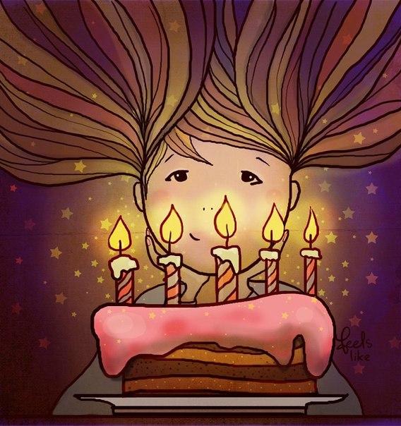 Открытка с днем рождения девушке минимализм