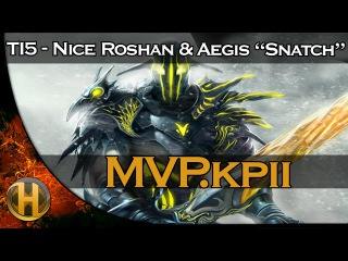 """Dota 2 TI5 -  Nice Roshan & Aegis """"Snatch"""""""