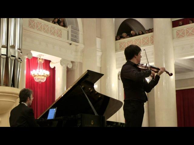 Joshua Bell plays Pablo Sarasate. St. Petersburg, 2012.