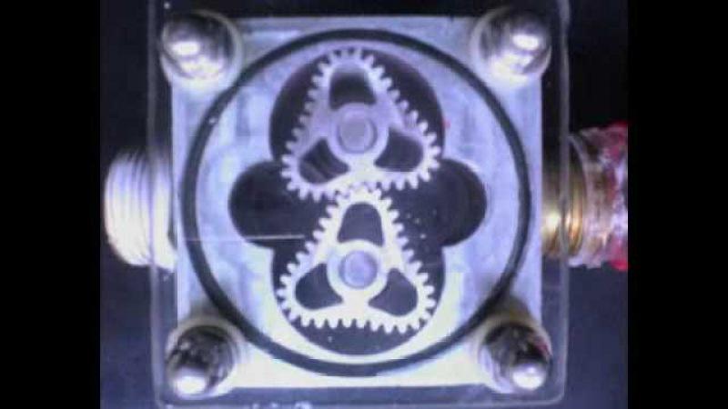 Non circular gears super oval flowmeter