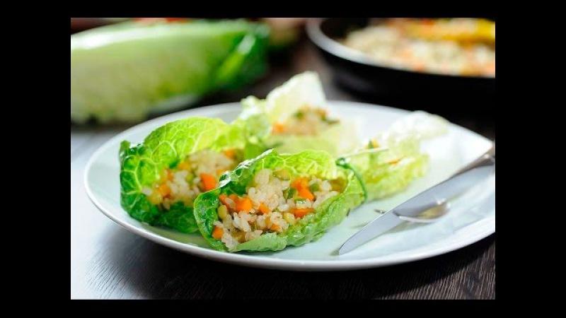 Rollos de arroz con verduras - Recetas vegetarianas