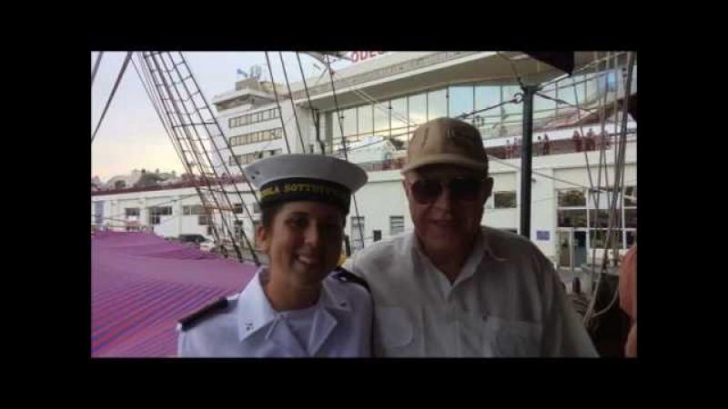 Итальянский парусник Palinuro и ОнЖеГога Капитан! )