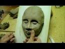 La confiance en deux mains n°1 Réalisation d'un masque en argile par Pédro DIAZ