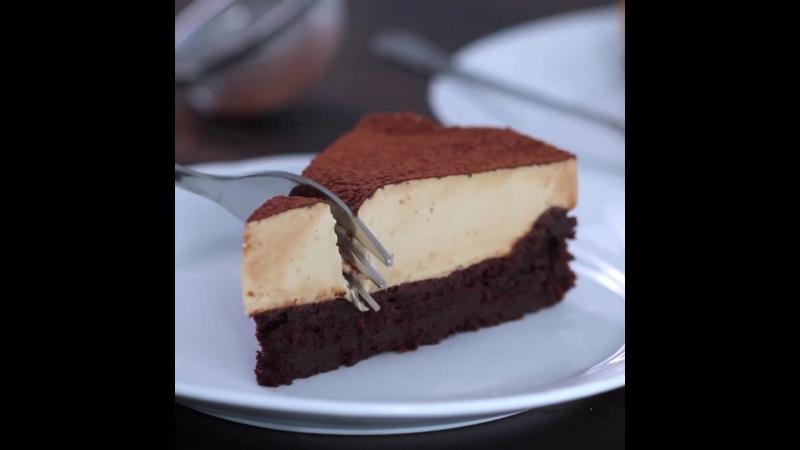 Шоколадный пирог с кофейным муссом