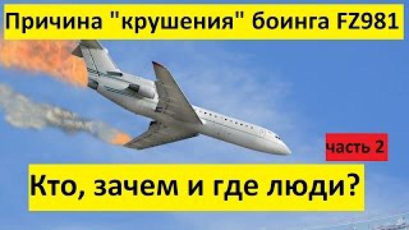Причина крушения боинга FZ981 в Ростове. Кто, зачем и где люди Часть 2.