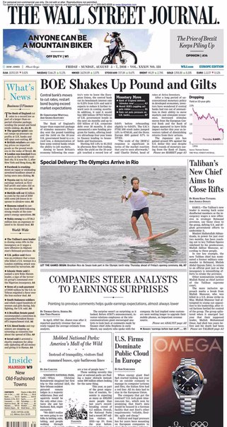 The Wall Street Journal Europe  August 05 2016