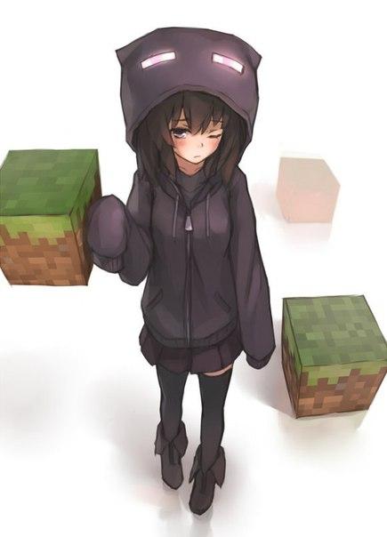 скины женские для майнкрафт аниме #8