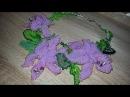 Necklace/Beaded necklace/DIY necklace/Beaded/Колье своими руками/Колье из бисера Орхидеи ЧАСТЬ 4