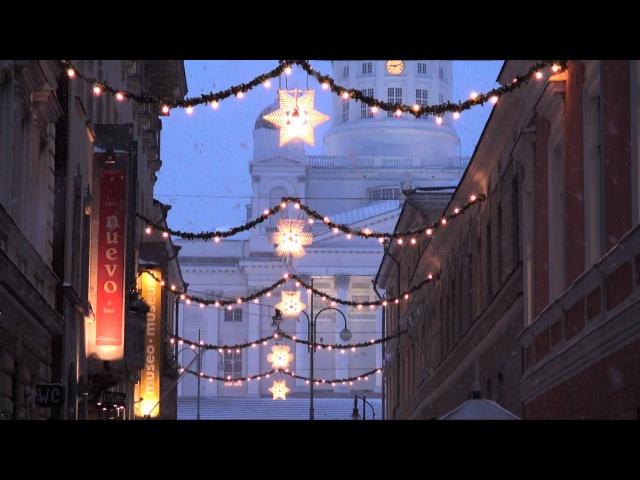 Winter Helsinki Christmas Helsinki in Finland - tourism Helsingin joulu talvi Suomi Joulupukki