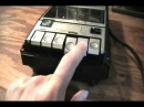 General Electric 3-5105F vintage portable cassette recorder.
