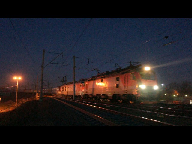 ЭП20-016 и ЧС6-020 с поездом Лев Толстой №32 Москва - Хельсинки (RZD)