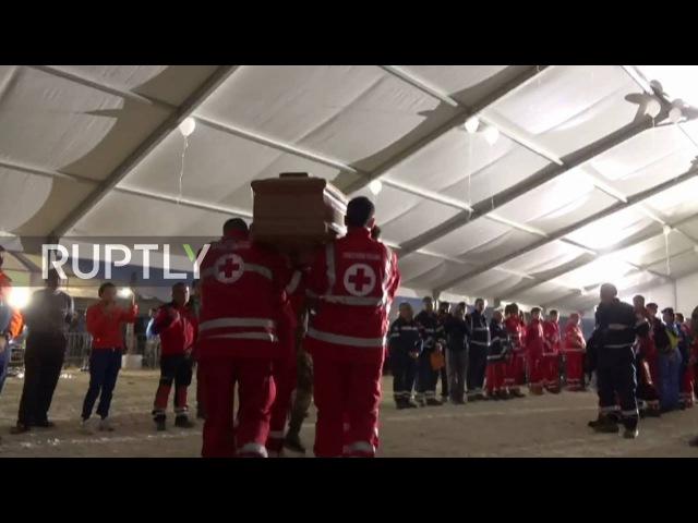 Италия Похороны жертв землетрясения проведенных в Аматриче