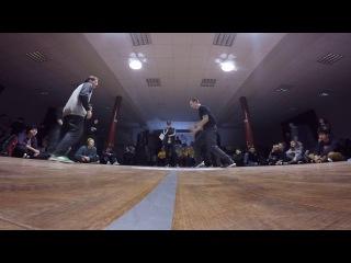 Funky Man 9   Popping 1/4 final Чинарь vs Практик