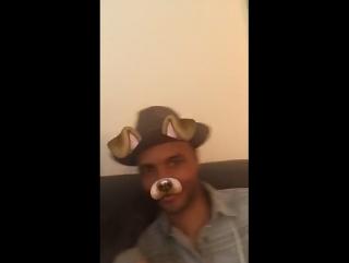 Demi on matthew scott montgomery's snapchat story (august 14)