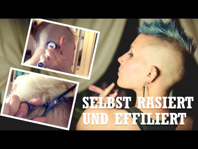 NichtFriseurTag [ Selbst rasieren / Haare effiliern und ausdünnen/ Haare tönen ] DIY Haarexperimente