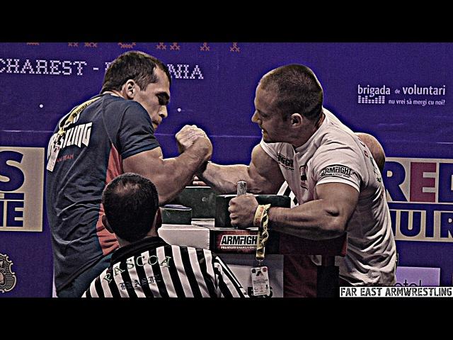 Hetag DZITIEV vs Hristo DELIDZHAKOV at EUROPEAN ARMWRESTLING CHAMPIONSIP 2016