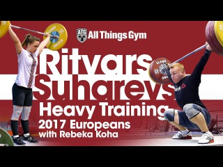Ritvars Suharevs Last Heavy Training Before Europeans (with Rebeka Koha's Afternoon Training)