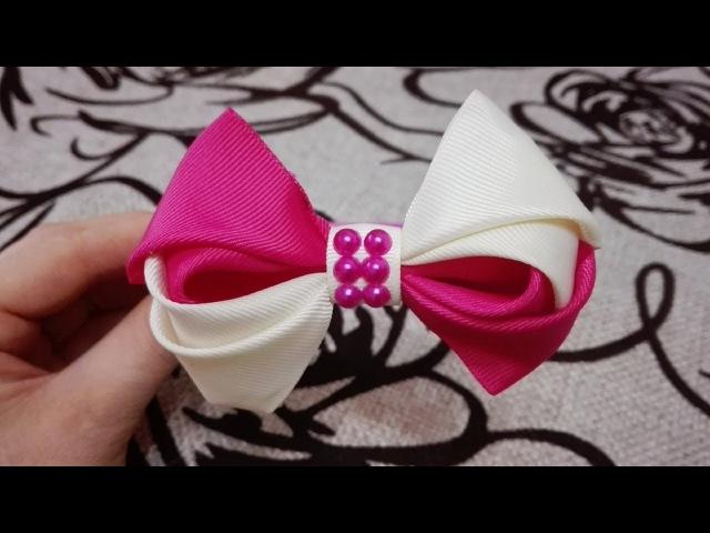 двухцветный бант DIY Laço De Fita Cetim the ribbon bows