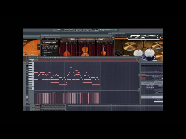 AWESOME FL Studio Track using RealGuitar, EZ Drummer!