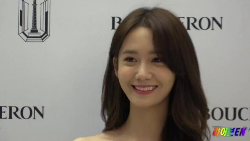 Live영상 소녀시대 윤아 보석보다 더 빛나는 그녀 부쉐론 콰트로 그로그랭클루 드 파리 컬렉션 런칭 기념 포토월
