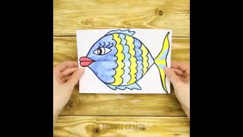 сейчас рисунок гармошка или поделка голодная рыбка перемешать получения однородной