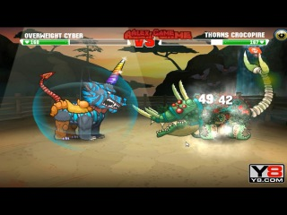 Last Boss Africa Mutant Fighting Cup 2 (Africa Cup 20) Overwight Cyber VS Thorns Crocopire (Dog 40)