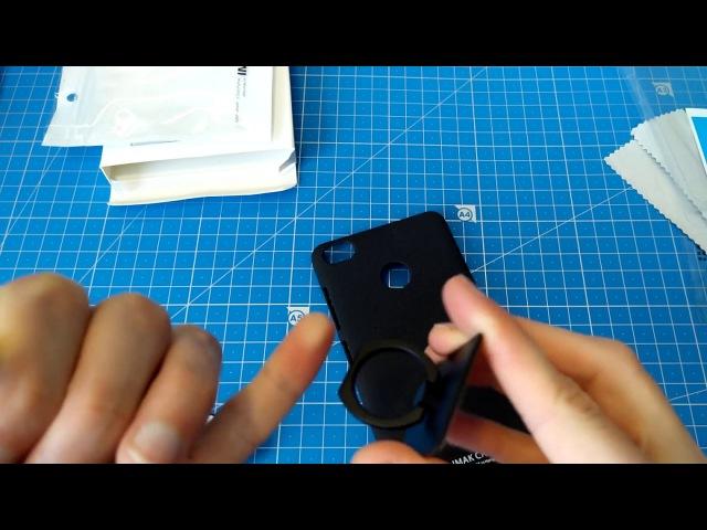 Чехол с кольцом для NUBIA z11 mini s от IMAK качественный бампер для камерафона