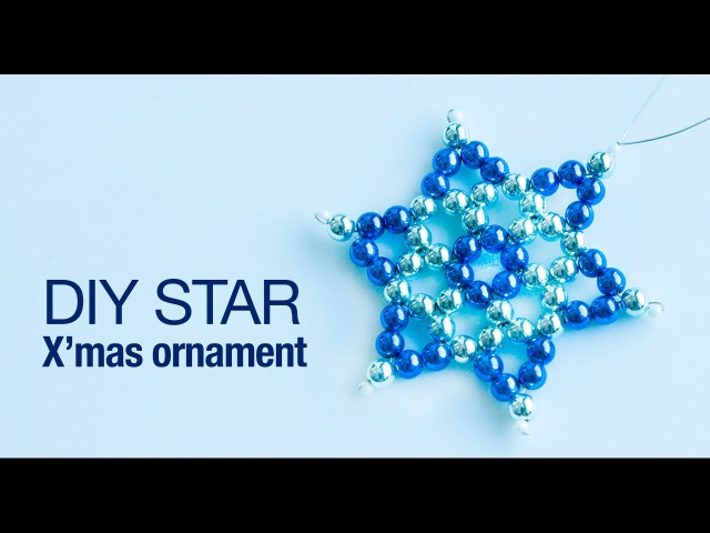 How to make christmas star ornament 2019 DIY star ornaments Christmas decoration Beads art
