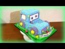 3 д Торт СИНИЙ ТРАКТОР Кремовые торты для детей Как украсить торт трактор