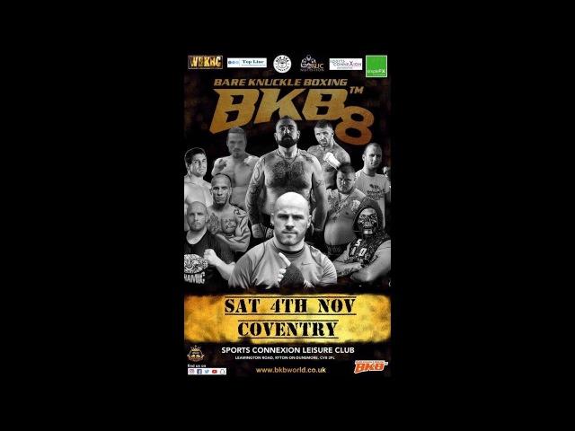 JIMMY SWEENEY VS JULIAN LANE BKB8 WORLD BKB MIDDLEWEIGHT TITLE FIGHT BARE KNUCKLE FIGHT