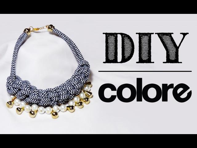 DIY Collar Nudos de Cordón | Colore Accesorios
