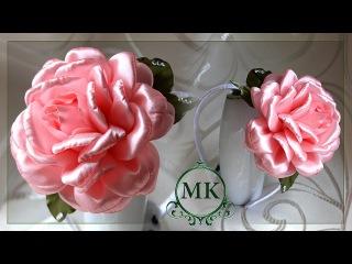 Пышная роза. Канзаши. МК. / DIY. Rose. Kanzashi. Flowers.