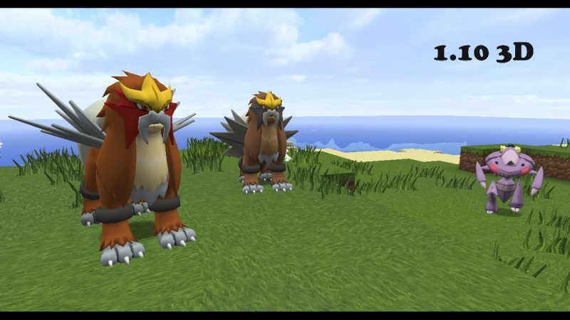PokePack HD 3D Model and Animation Entei