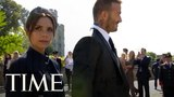 Victoria Beckham and David Beckham just graced the Royal Wedding with their presence TIME