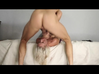 Rough Sloppy Upside down THROATFUCK and Belt Spanking with Stupid Hooker