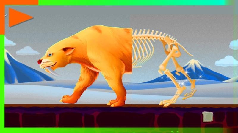 Мир юрского периода Какими были животные и динозавры раньше Мультики для малышей