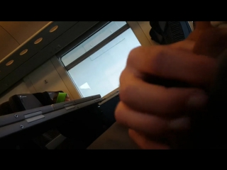 Flash dick on train for granny