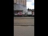 Сгорела газель на площади революции. Челябинск