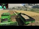 LS19 Gamescom - Der John Deere Fuhrpark beim Dreschen von Weizen