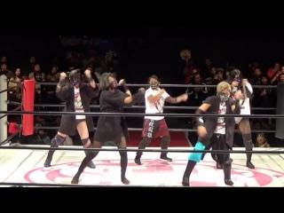 Hiromi Mimura, Konami, Jungle Kyona & Natsuko Tora vs. Oedo Tai (Hana Kimura, Kagetsu, Kris Wolf & Natsu Sumire)