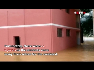 Rainstorm Flooded Southwest China, Middle School Turned into Muddy River