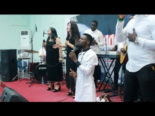 worshiping along side Lusine . at word of life church volgograd