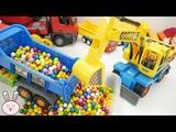 Kids toys Excavator Pororo Dump Truck Cement Mixer Crane Truck Garbage Truck for kids YapiTV Toy