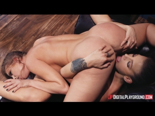 Lesbian sex with Evelin Stone and Britney Amber in the library 1080p, babe, big tits, brunette, pussy licking, tattooed